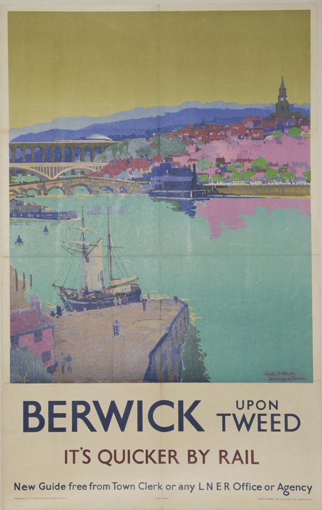 Poster LNER 'Berwick-Upon-Tweed - Its Quicker By