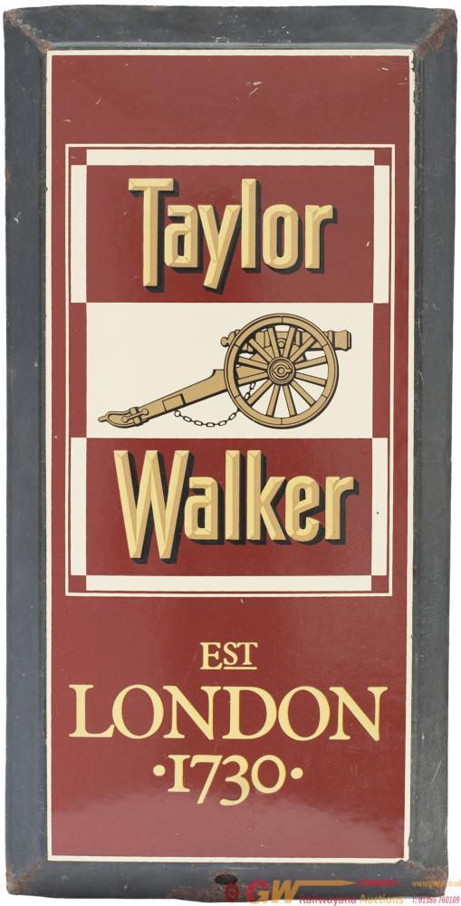 Advertising Enamel Brewery Sign TAYLOR WALKER EST