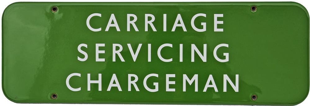 BR(S) Doorplate, 'CARRIAGE SERVICING CHARGEMAN',