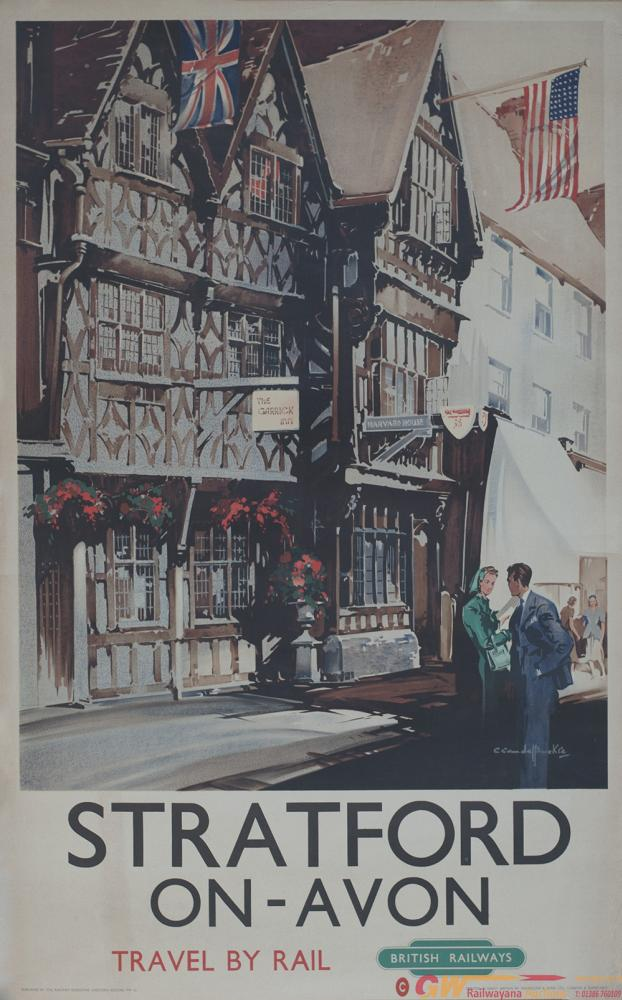 Poster BR(W) STRATFORD-ON-AVON THE GARRICK INN AND