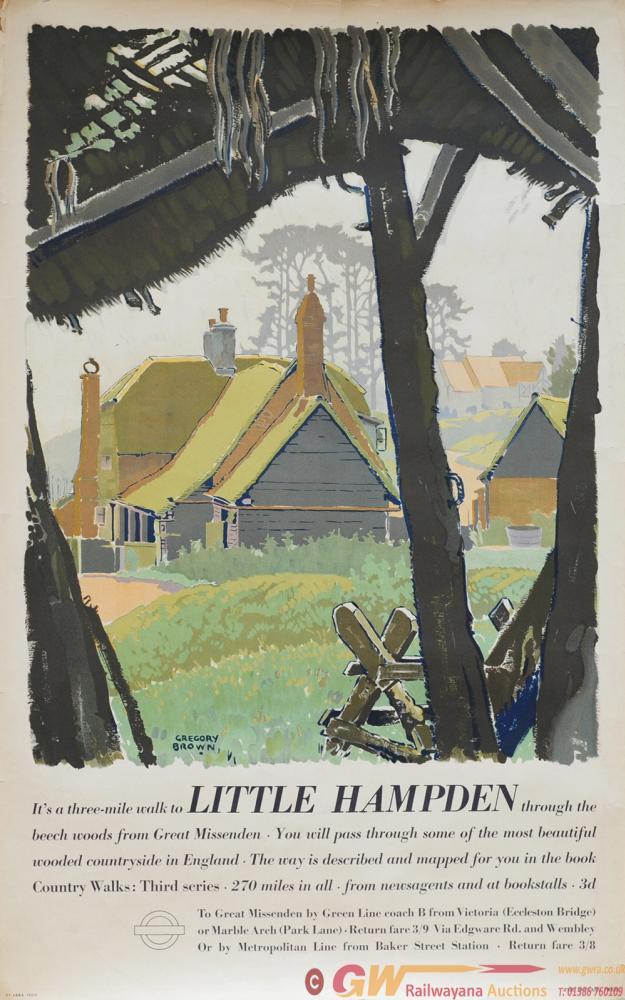 Poster London Transport 'Little Hampden' By