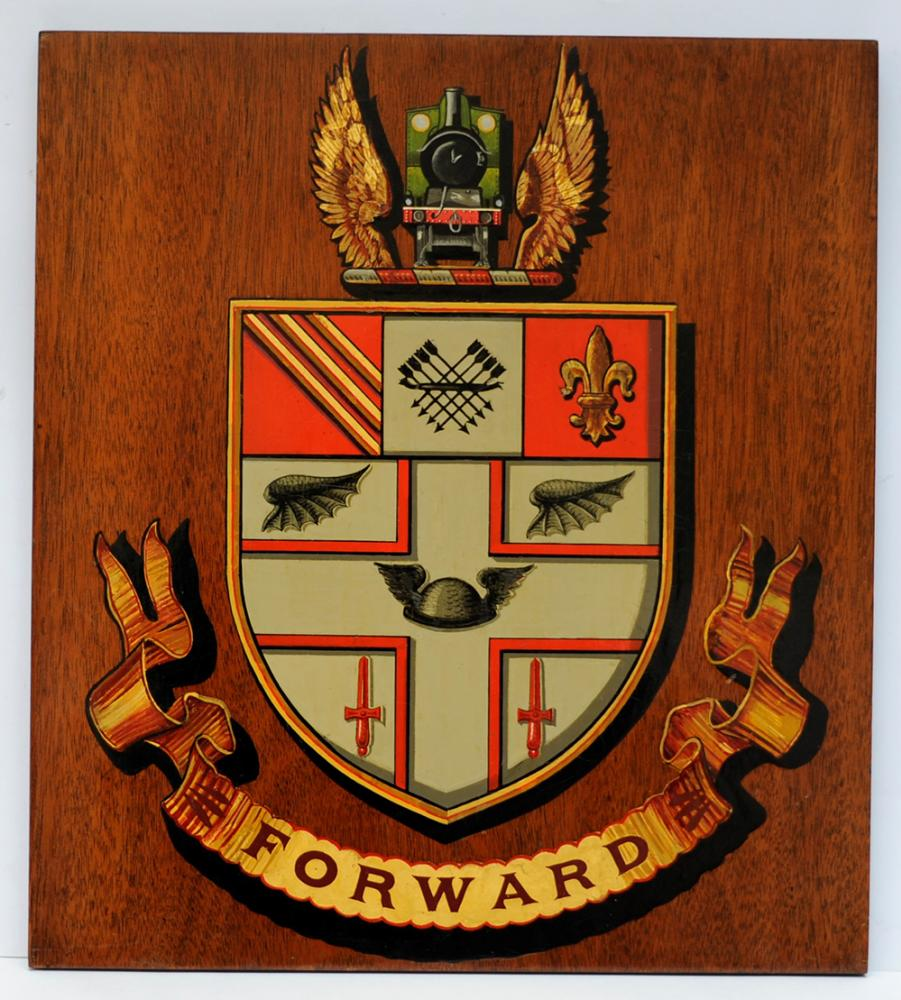 Great Central Railway Mounted Crest. The Company