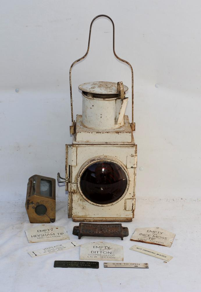 A Sundry Lot Containing Loco Items. Brass Glass