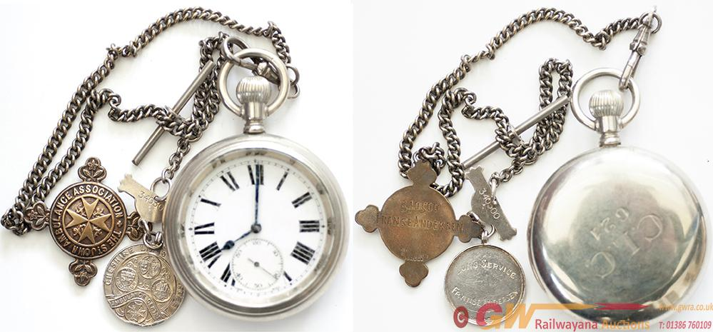 Cheshire Lines Committee Nickel Cased Pocket Watch