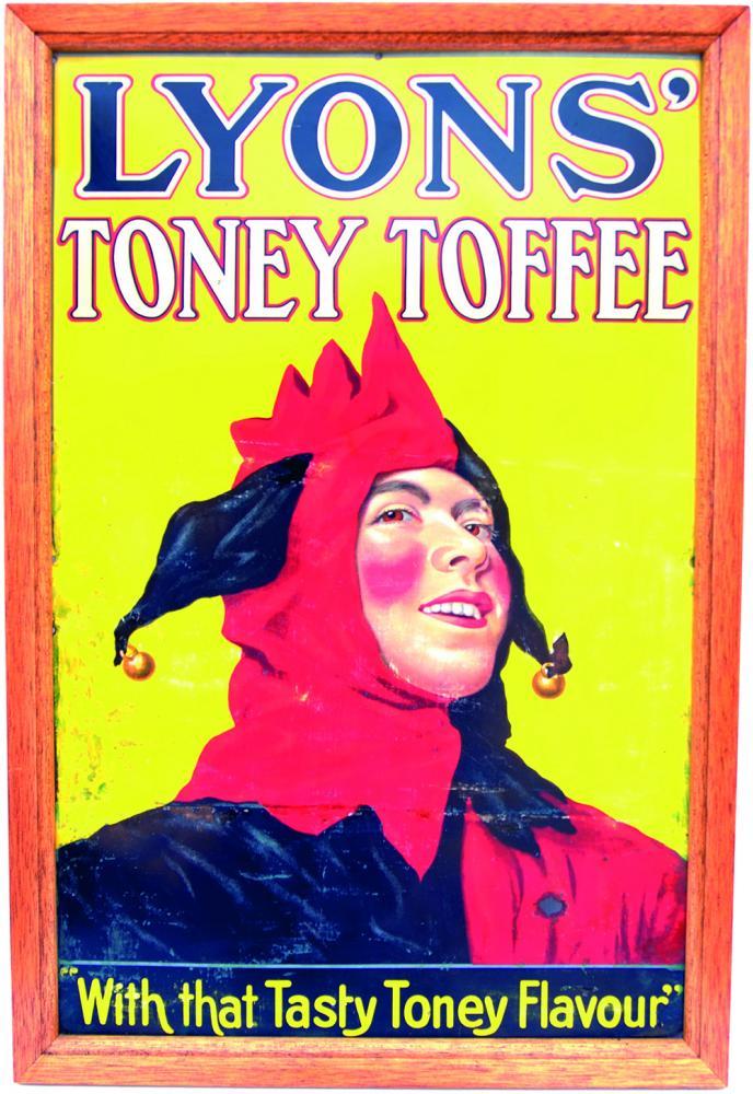 Advertising Tinplate Sign 'Lyons' Toney Toffee
