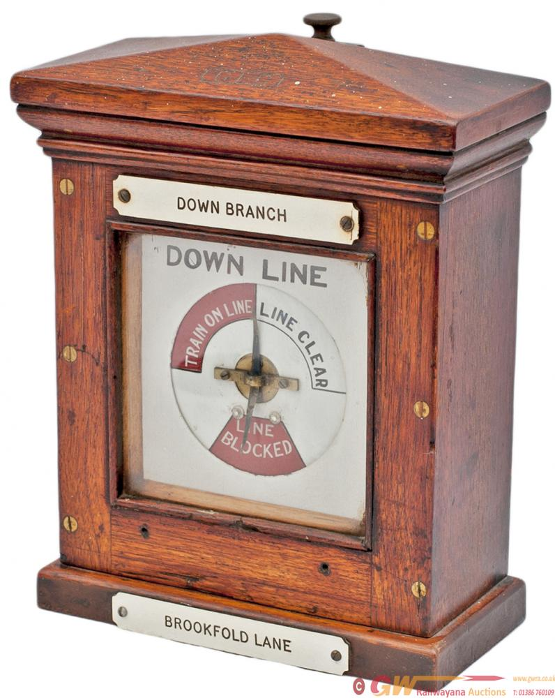 Cheshire Lines Committee Mahogany Cased Block