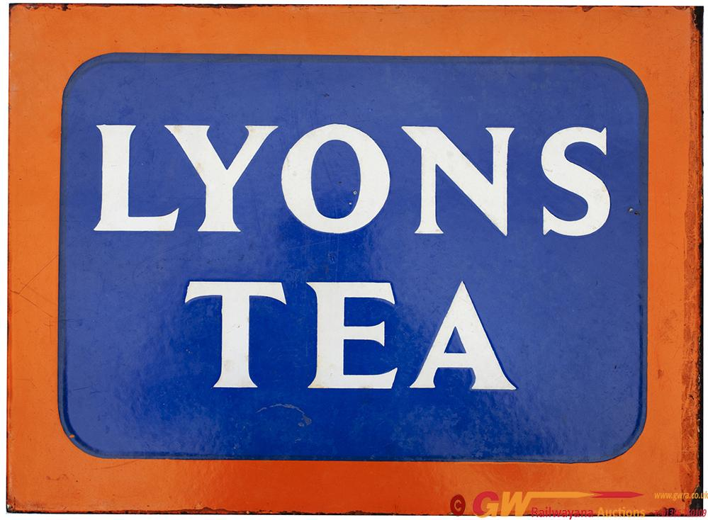 Advertising Enamel Sign LYONS TEA, Double Sided