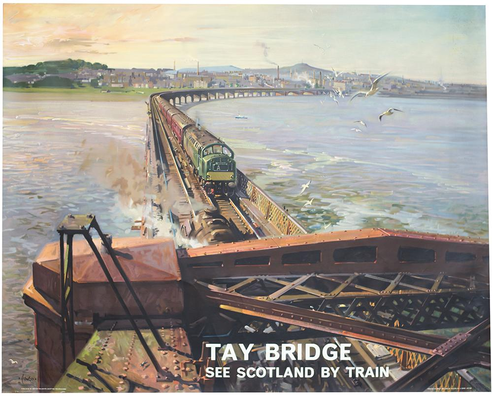 Poster BR(SC) TAY BRIDGE SEE SCOTLAND BY TRAIN By
