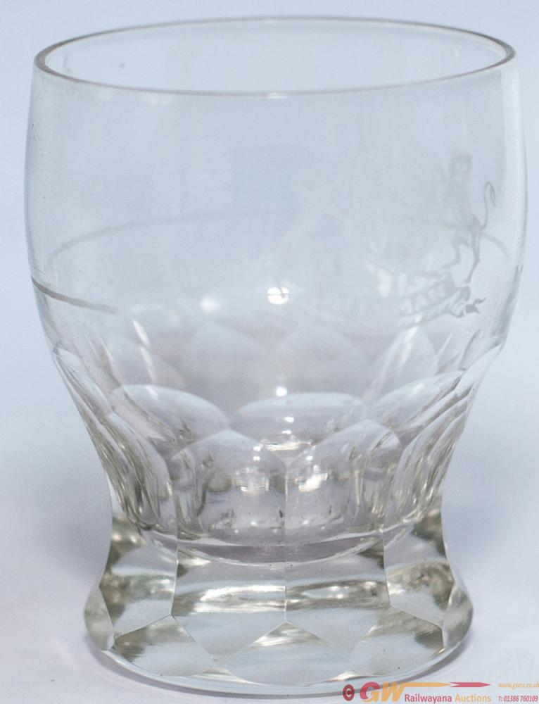 Pullman Spirit Tot Glass, Cut Glass Measuring