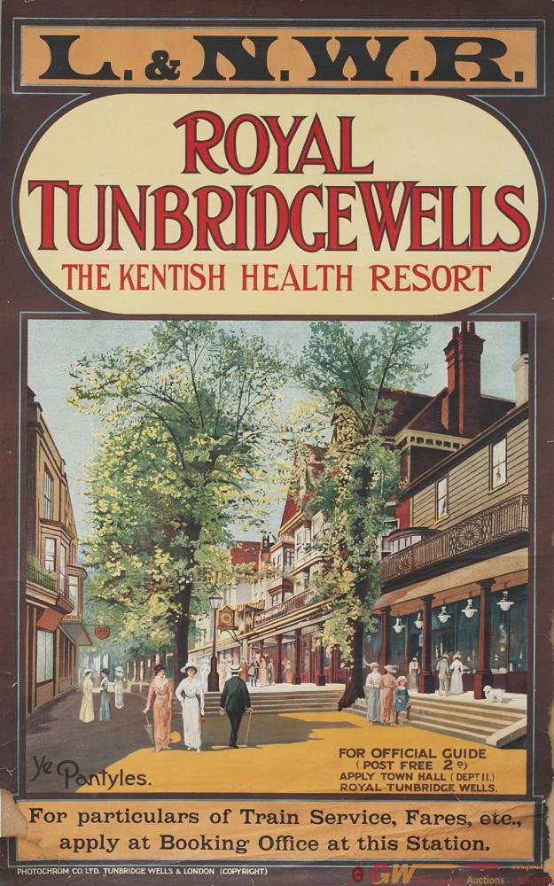 Poster LNWR ROYAL TUNBRIDGE WELLS THE KENTISH