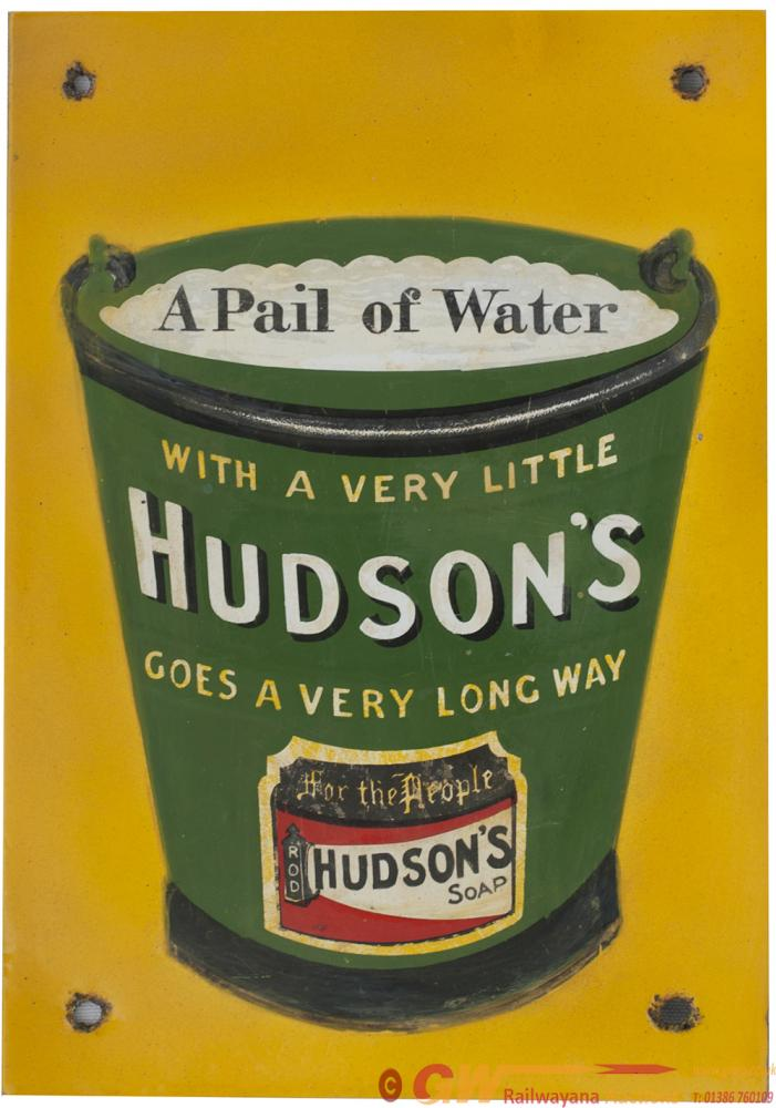 Advertising Enamel Sign A PAIL OF WATER WITH A