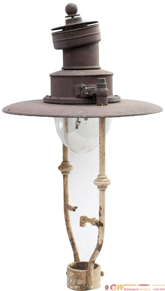 GWR Sugg Platform Lamp, Mexican Hat Type, Complete