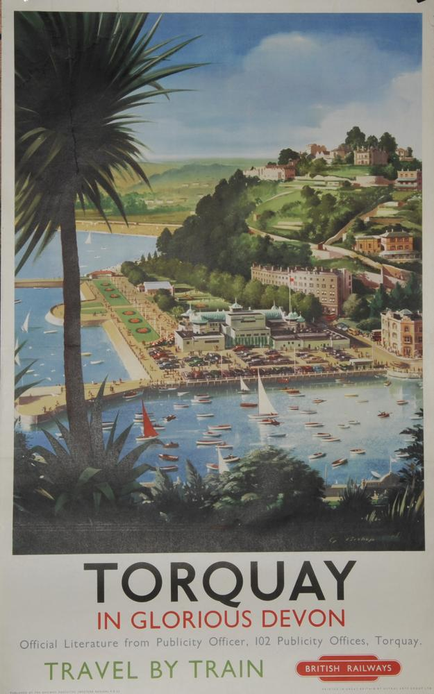 Poster, 'Torquay In Glorious Devon' By G Bishop,