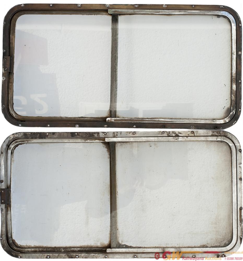 A Pair Of Deltic Locomotive Bodyside Windows,