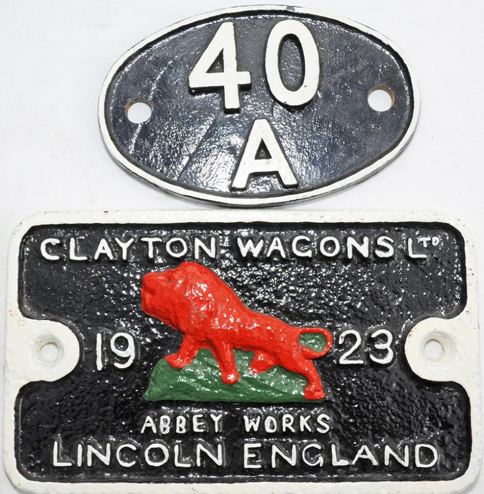 Shedplate 40a Lincoln Until May 1973. Face Only