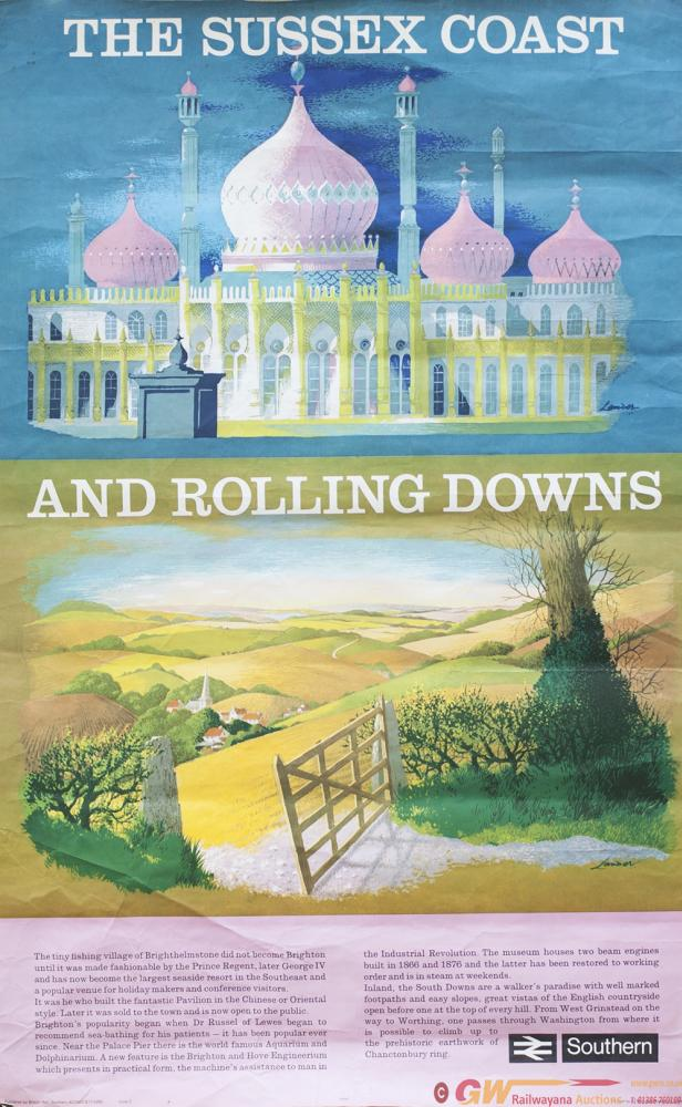 Poster BR(S) THE SUSSEX COAST AND ROLLING DOWNS By