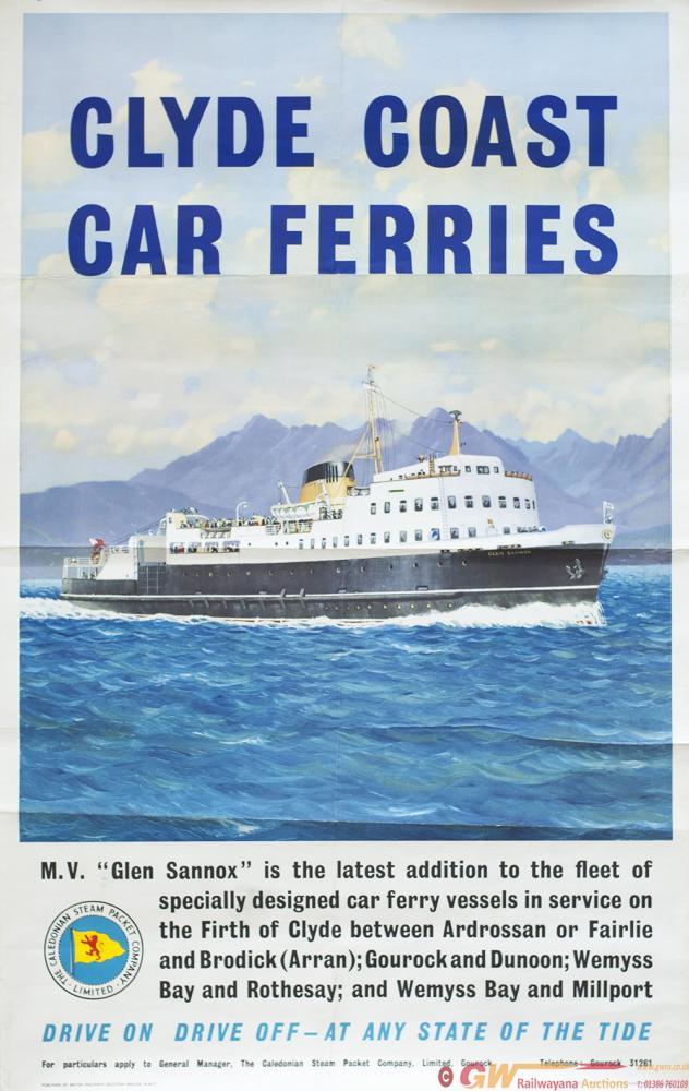 Poster BR(SC) CLYDE COAST CAR FERRIES M. V. GLEN