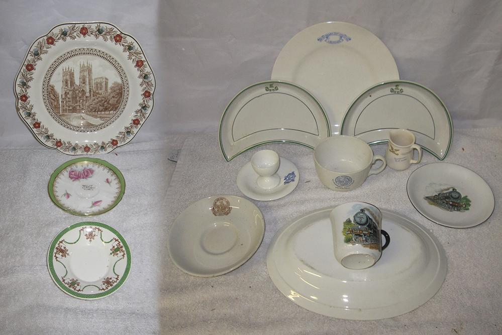 A Quantity Of Railway And Shipping Tableware