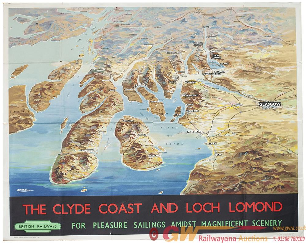 Poster BR THE CLYDE COAST AND LOCH LOMOND By