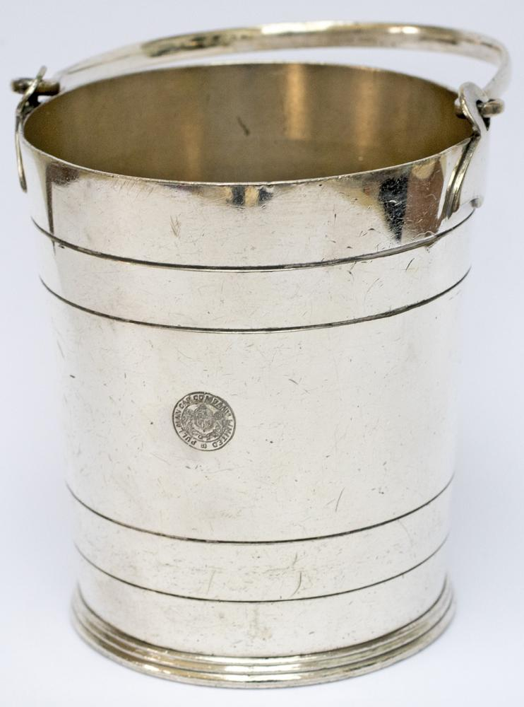 Pullman Silverplate Ice Bucket Marked On The Front