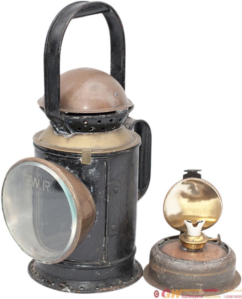 GWR 3 Aspect Brass Collar Coppertop Handlamp