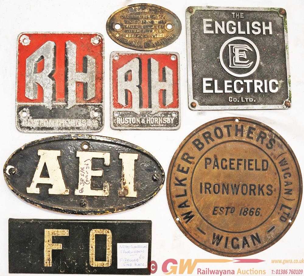 A Miscellany Of Builder Plates To Include A Small
