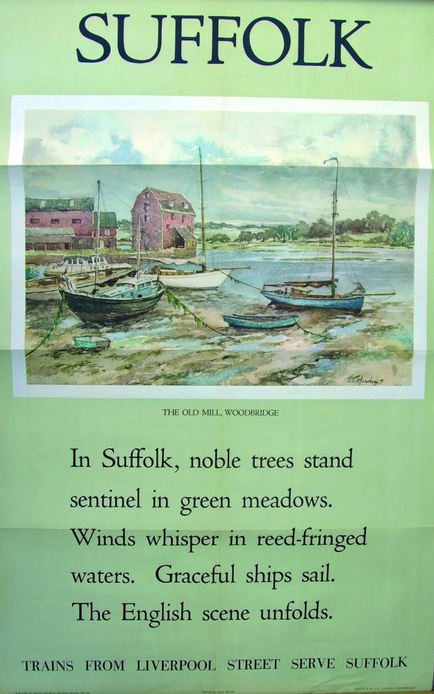 Poster 'Suffolk The Old Mill, Woodbridge' By JT