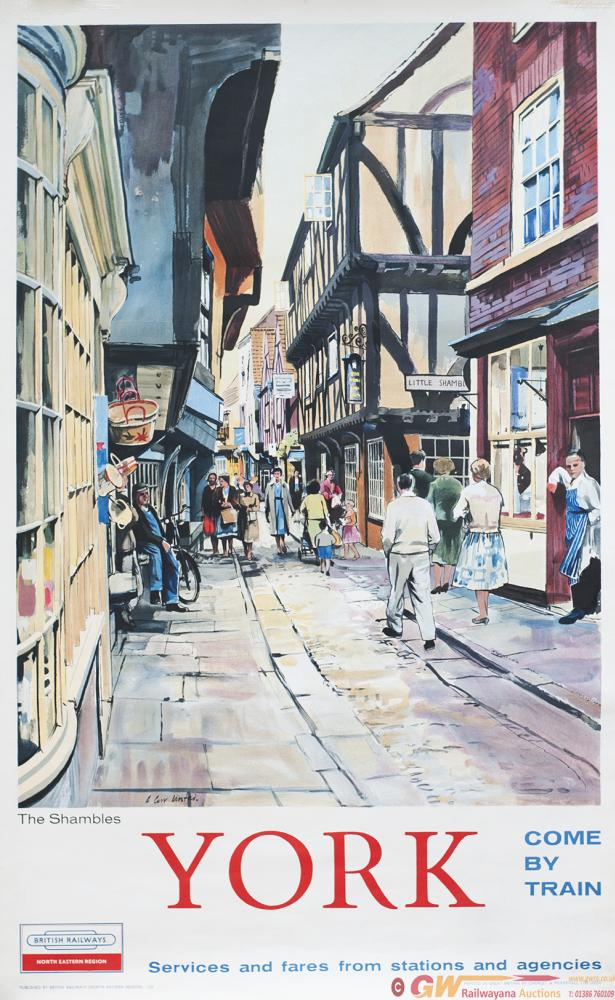 Poster BR(NE) YORK THE SHAMBLES By A. Carr