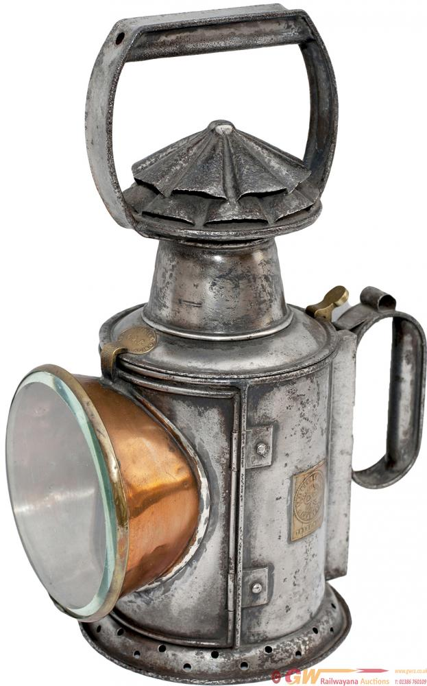 GWR 3 Aspect Handlamp With Rectangular Brass