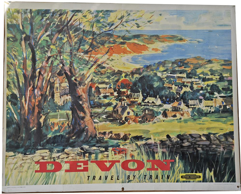 BR Poster 'Devon - Travel By Train' By Johnston,