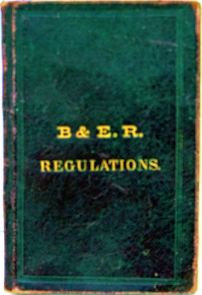Bristol & Exeter Railway Rule Book Dated 12th May