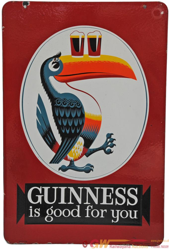 Advertising Enamel Sign 'Guinness Is Good For You'