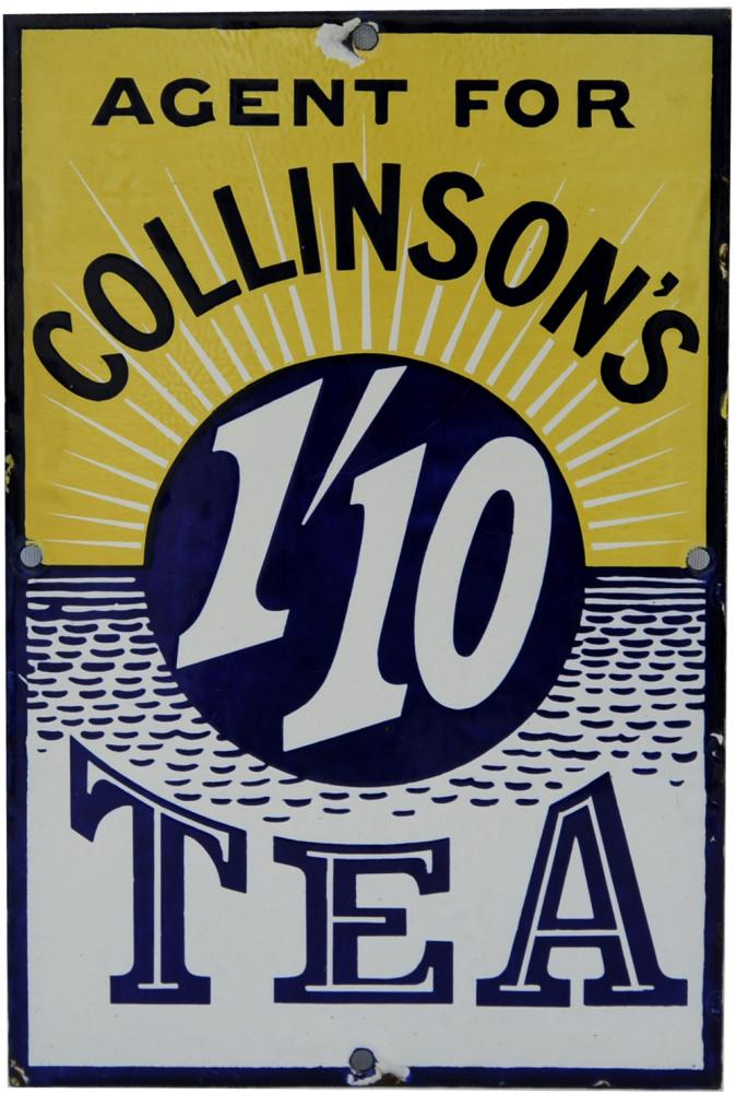 Enamel Advertising Sign 'Agent For Collinson'