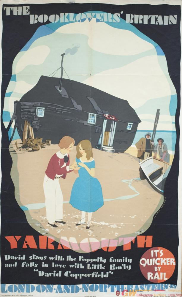 Poster LNER THE BOOKLOVERS BRITAIN YARMOUTH By