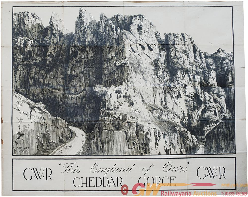 Poster GWR THIS IS OUR ENGLAND CHEDDAR GORGE By