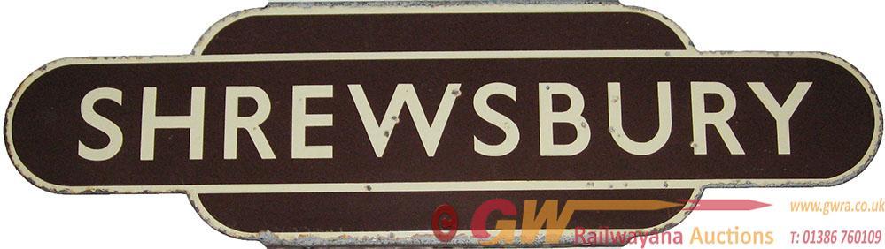 Totem BR(W) SHREWSBURY  H/F. Ex GWR Station