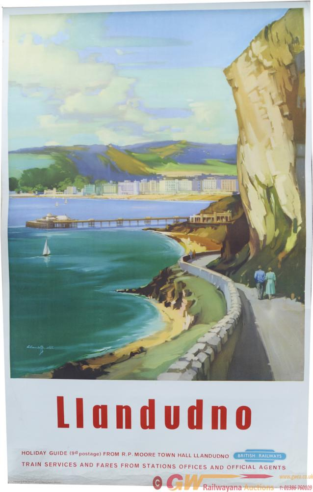 BR Poster, Llandudno, By Claude Buckle, D/R Size.