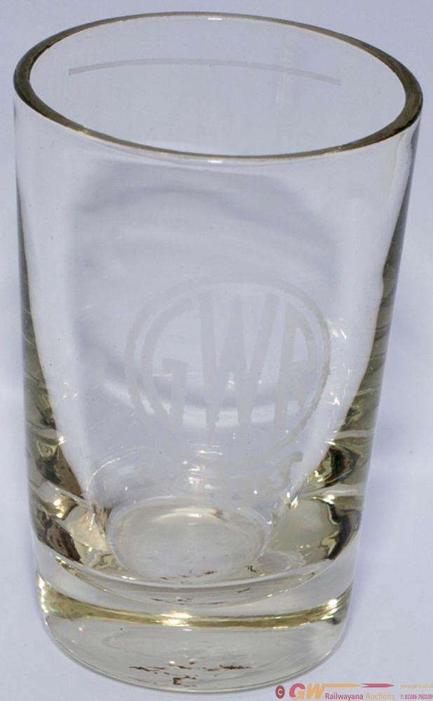 GWR HOTELS Spirit Measuring Glass, Acid Etched