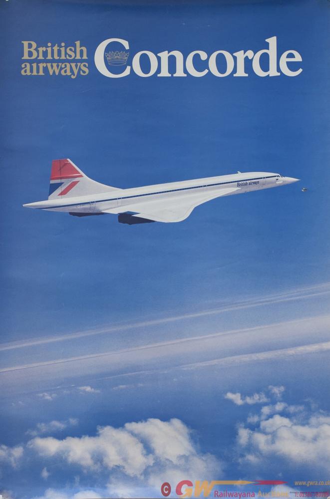 Poster BRITISH AIRWAYS CONCORDE, Double Crown 20in
