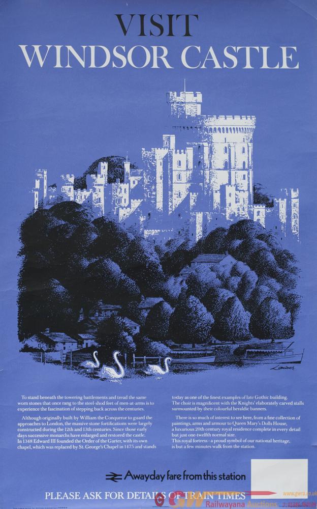 Poster BR VISIT WINDSOR CASTLE By Reginald Lander.