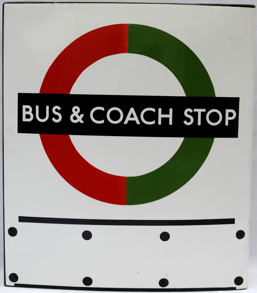 London Transport Enamel Bus Sign, Double Sided