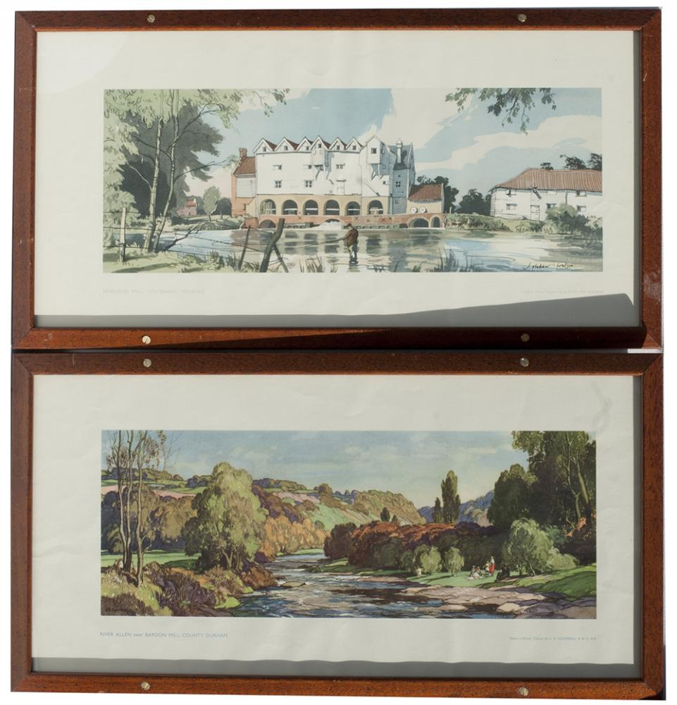 2 X Framed Carriage Prints. THE RIVER ALEN Near
