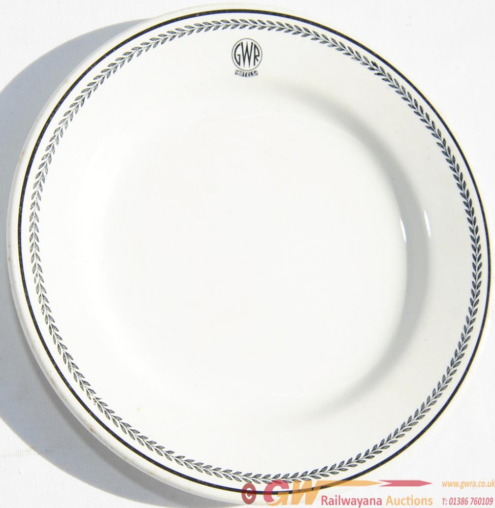 GWR Black Leaf China Side Plate By Meakin.