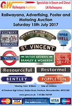 Railwayana Auction July 2017