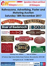 Railwayana Auction November 2017