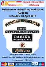 Railwayana Auction April 2017