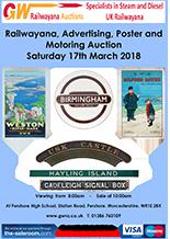 Railwayana Auction March 2018
