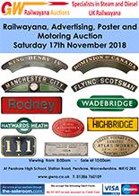 Railwayana Auction November 2018