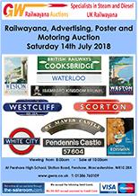Railwayana Auction July 2018