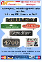 Railwayana Auction November 2016